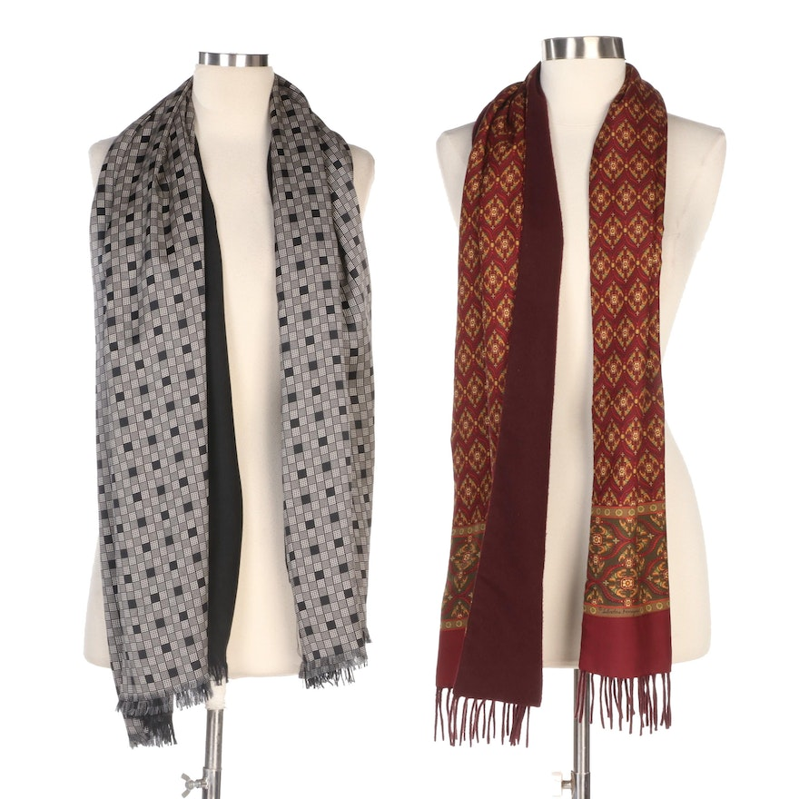 Salvatore Ferragamo Cashmere and Other Double-Faced Wrap