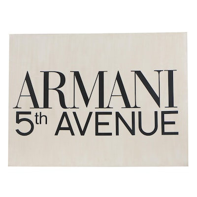 Armani 5th Avenue Stretched Canvas Wall Décor