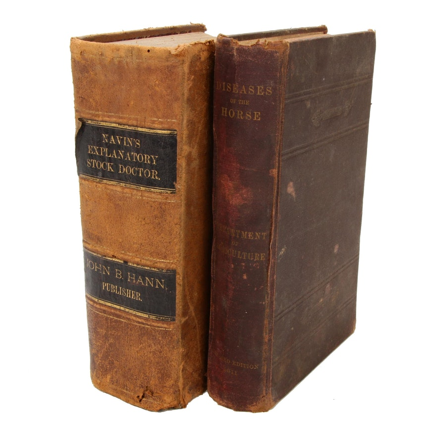 Veterinary and Equine Medical Books, Late 19th/Early 20th Century