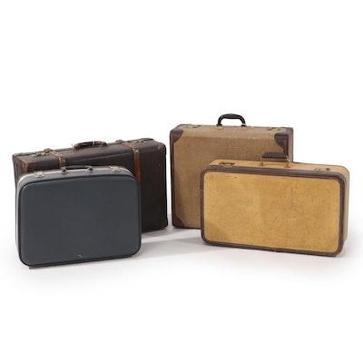 Echt Vuikan-Fibre  and Other Travel Suitcases, Vintage