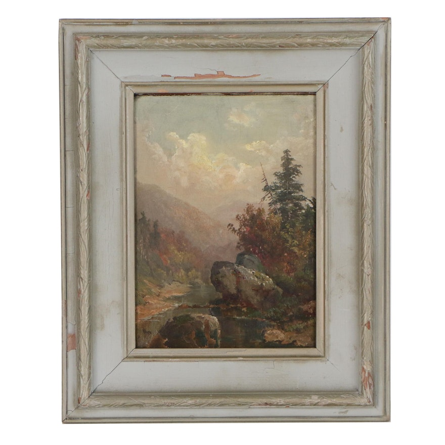 Continental Landscape Oil Painting, Late 19th to Early 20th Century