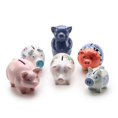 Ceramic Piggy Banks and Bear Coin Banks