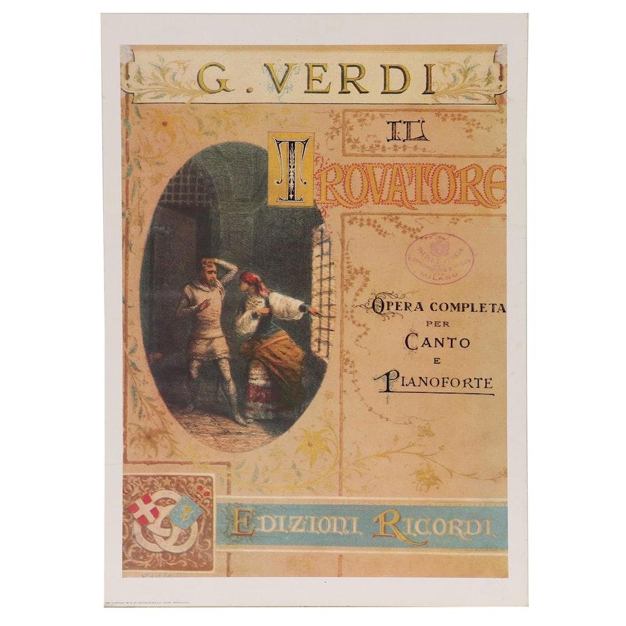 "Offset Lithograph Poster for Giuseppe Verdi's ""Trovatore"", 1987"