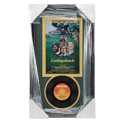 "Caddyshack Movie ""I'm Alright"" 45 RPN Record Photo Print Display, CEI"