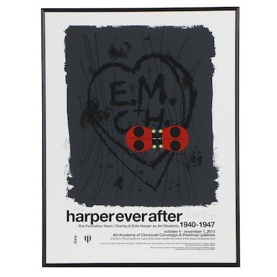 """Serigraph Exhibition Poster after Charley Harper """"Harper Ever After"""", 2013"""
