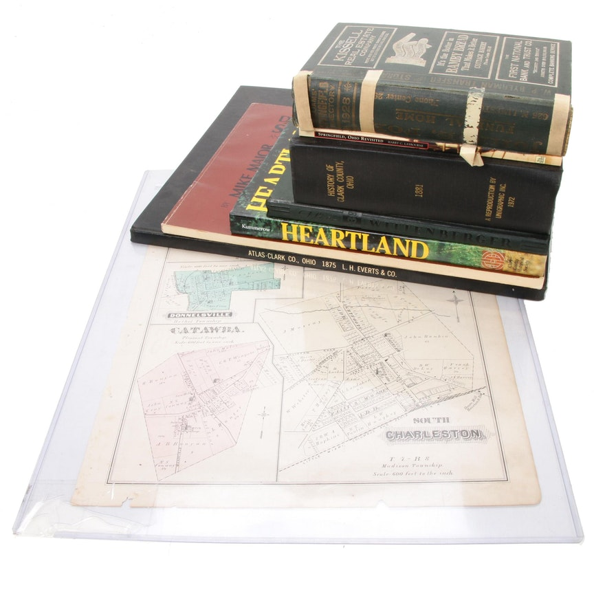 Springfield and Clark County History Book Collection and Map