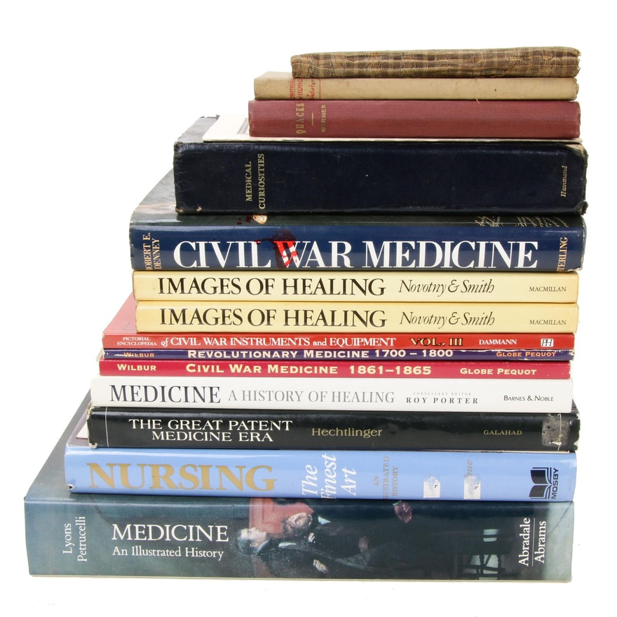 """Medical History Book Collection Including """"Medicine: An Illustrated History"""""""