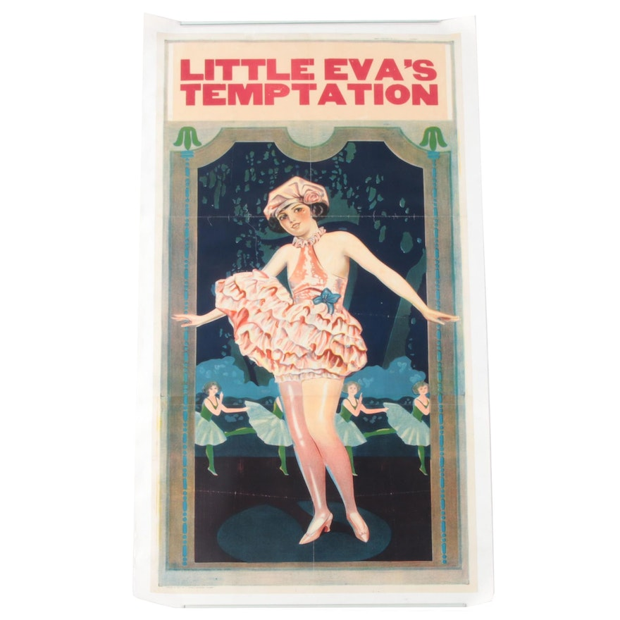 "Lithograph Poster of Chorus Line Dancer ""Little Eva's Temptation"""