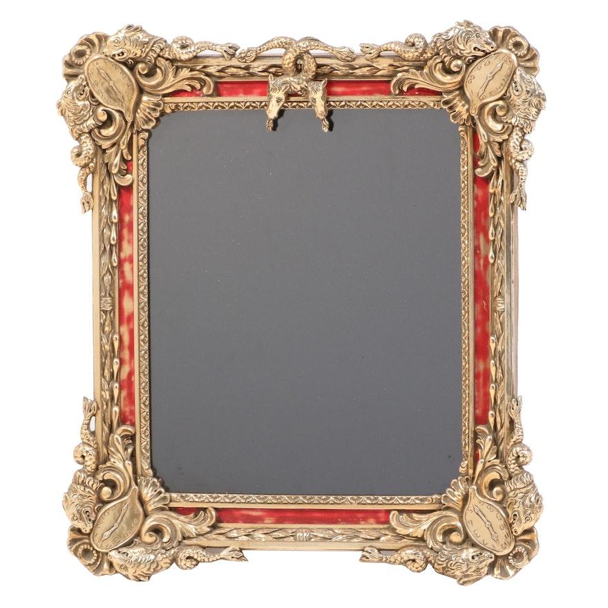 """Salvador Dali Designed Parcel-Gilt Mirror """"Surrealist Mirror,"""" 20th Century"""
