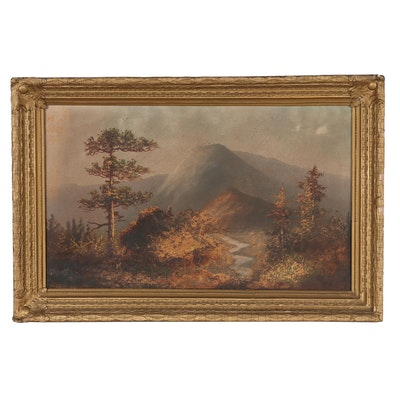 Landscape Oil Painting of Mountain Scene