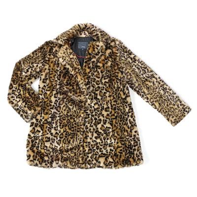 Steve Madden Faux Leopard Fur Jacket