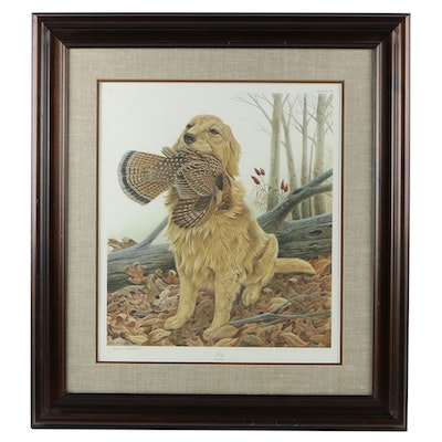 "John A. Ruthven Offset Lithograph ""Sporting Dog Series - Dusty"""