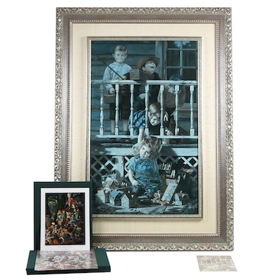 "Bob Byerley Embellished Offset Lithograph ""Irresistible"" and Book"