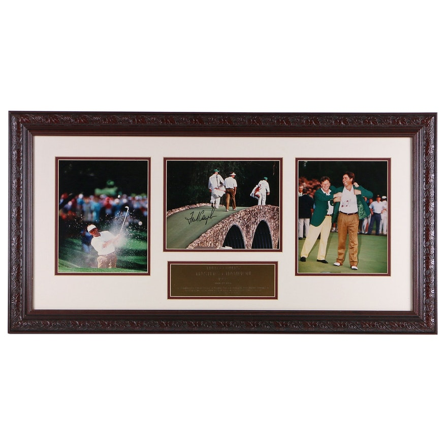 1992 Fred Couples Signed Masters Champ Framed Limited Edition Photographs, COA