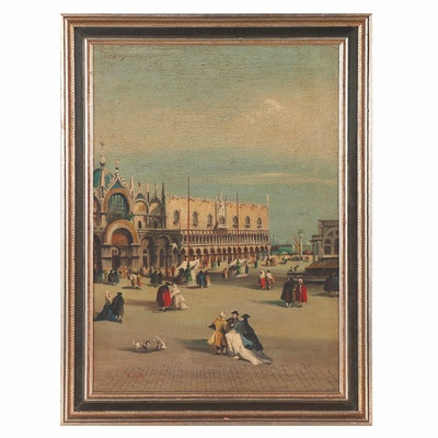 D. Colli Oil Painting of Piazza San Marco
