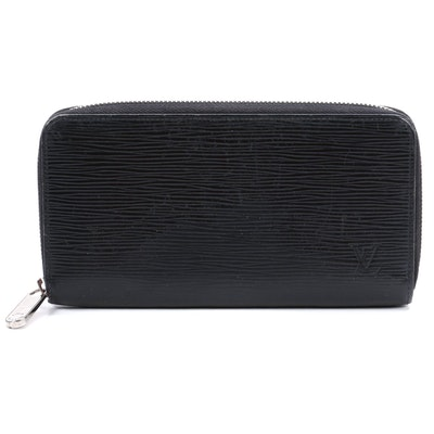 Louis Vuitton Black Epi Leather Zippy Wallet