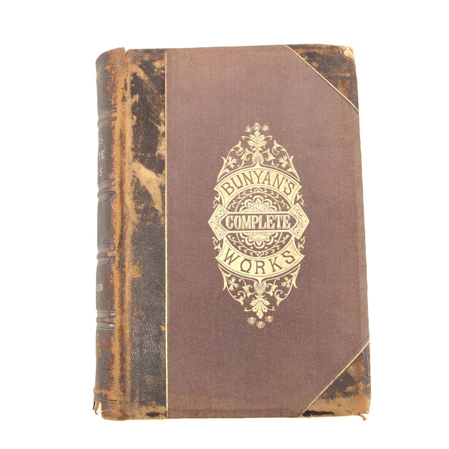 """1876 Illustrated Edition """"The Complete Works of John Bunyan"""""""