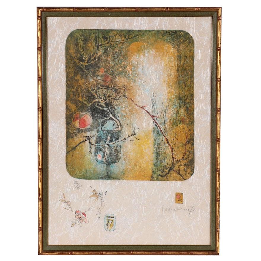 """Hoi Lebadang Lithograph """"Les Fleurs"""", 1979"""