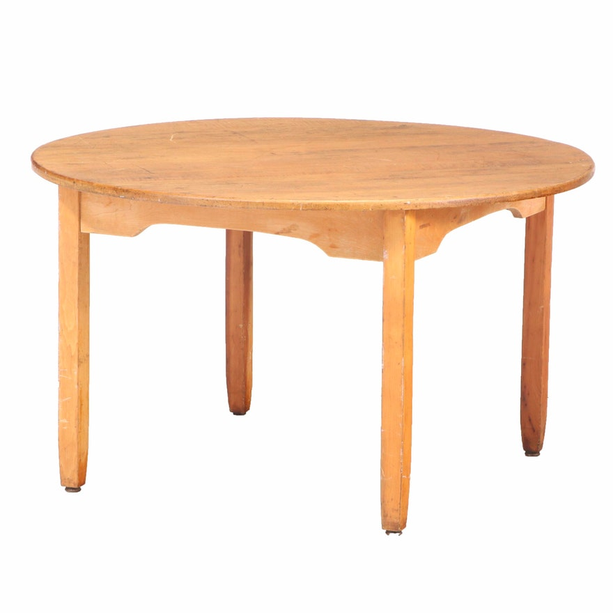 American Primitive Maple Child's Table, 20th Century
