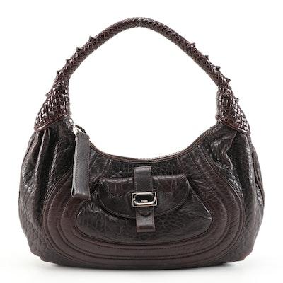 Fendi Spy Hobo Bag in Brown Nappa Leather