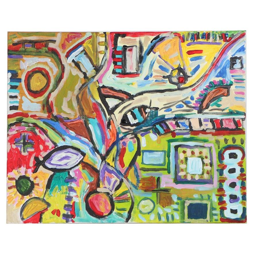 "Ehren Snyder Abstract Acrylic Painting ""Verisimilitude"", 2020"