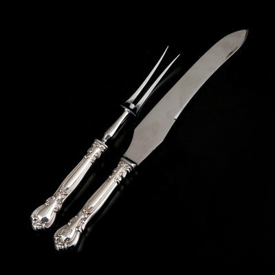 Birks Sterling Silver Carving Set, Early to Mid 20th Century