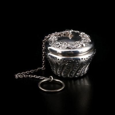 Gorham Sterling Silver Tea Infuser, Early 20th Century