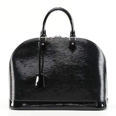 Louis Vuitton Alma GM in Black Electric Epi Leather