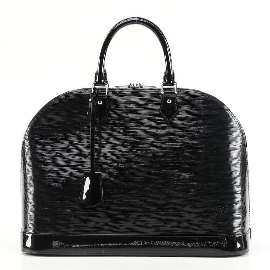 Louis Vuitton Alma GM in Black Electric Epi Leather