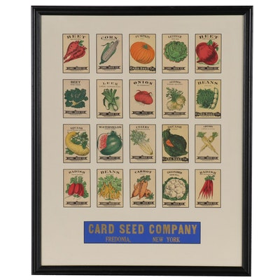 Card Seed Company Lithograph Seed Packets, Early-Mid 20th Century