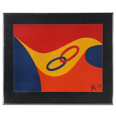 "Alexander Calder Color Lithograph ""Friendship,"" 1974"