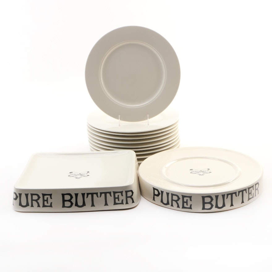 Homer Laughlin China Seville Plates and Dairy Supply Co. Limited Butter Slabs