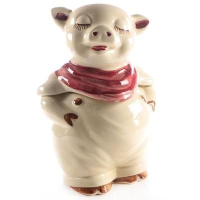 "Shawnee Pottery Co. ""Smiley Pig"" Ceramic Cookie Jar, 1940s"
