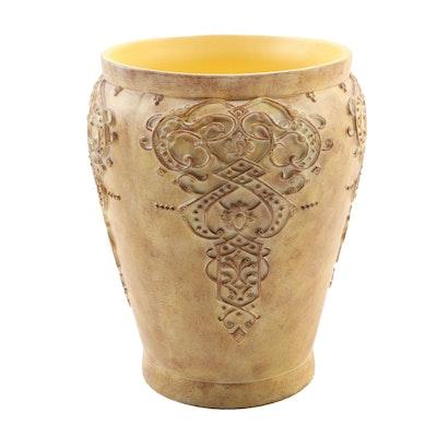 Karen Lawrence Composite Vase with Medallion Motif