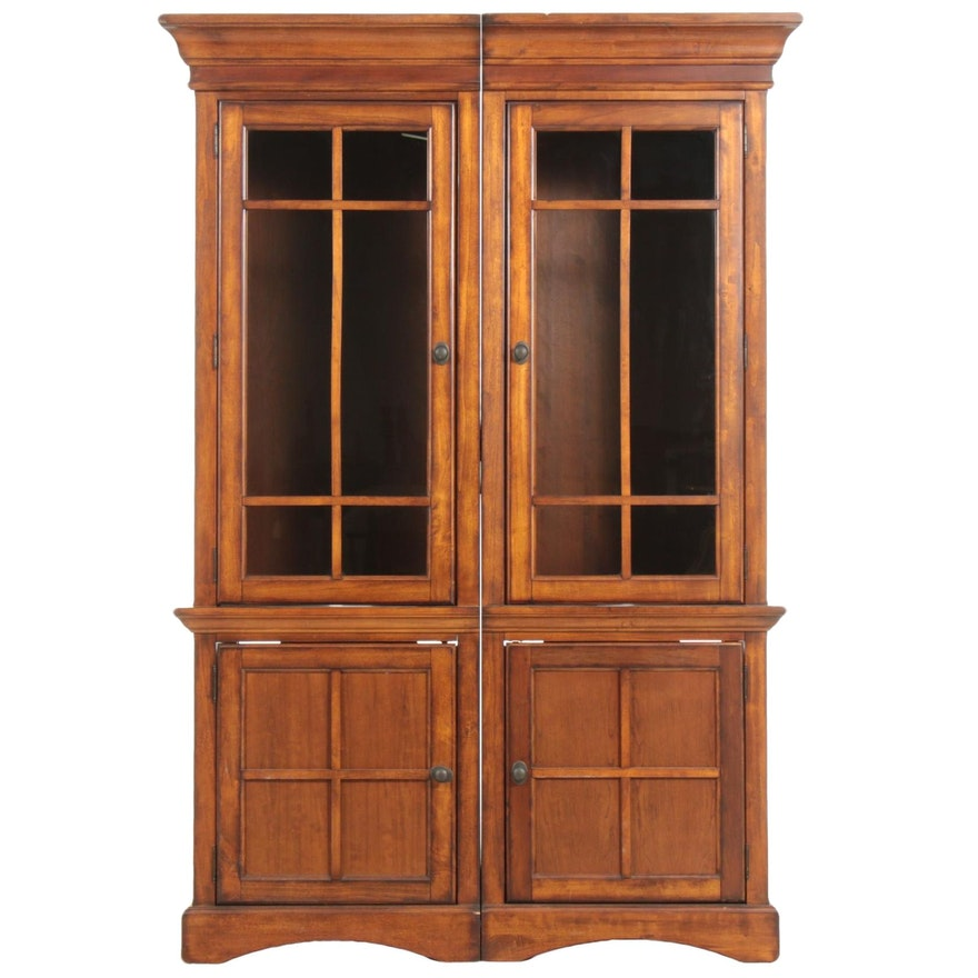Arts and Crafts Style Side Bookcases, Late 20th Century