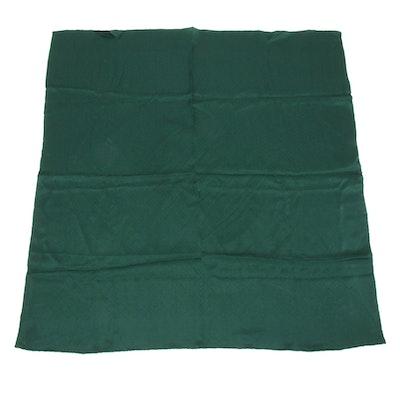 Louis Vuitton Green Monogram Silk Scarf