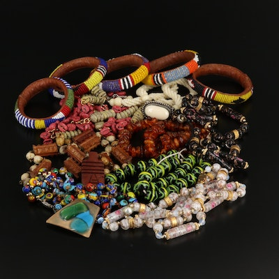 Beaded Jewelry Featuring Lampwork and Millefiori Beads