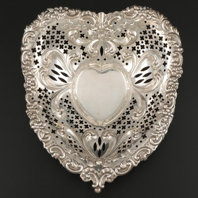 Gorham Heart-Shaped Sterling Silver Bowl, 1953