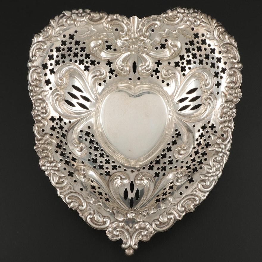 Gorham Heart-Shaped Sterling Silver Bowl, 1953