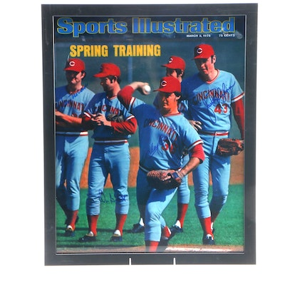 1975 Cincinnati Reds Signed Enlarged Framed Sports Illustrated Cover, CEI COA