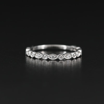 14K Diamond Bezel Band