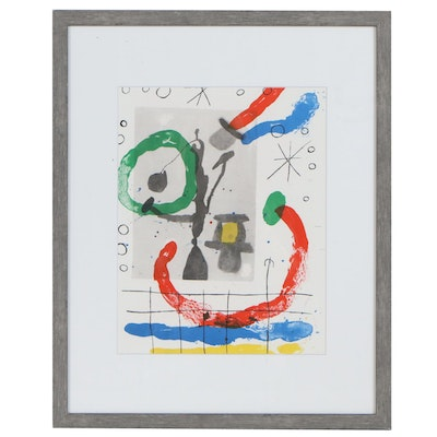 "Joan Miró Color Lithograph for ""Derrière le Miroir"", 1965"