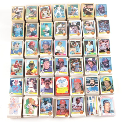 1980's Baseball Trading Cards Including Lee Smith, Fergie Jenkins, and More