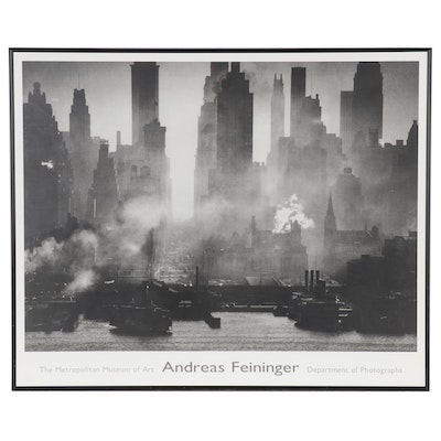 Offset Lithograph Exhibition Poster after Andreas Feininger, Late 20th Century