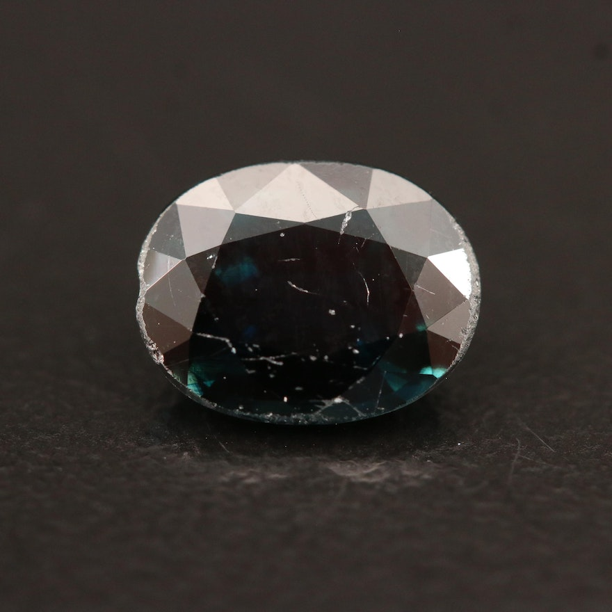 Loose 2.22 CT Oval Faceted Sapphire