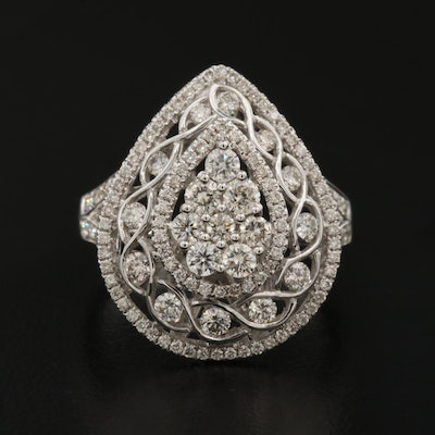 18K 1.28 CTW Diamond Openwork Ring