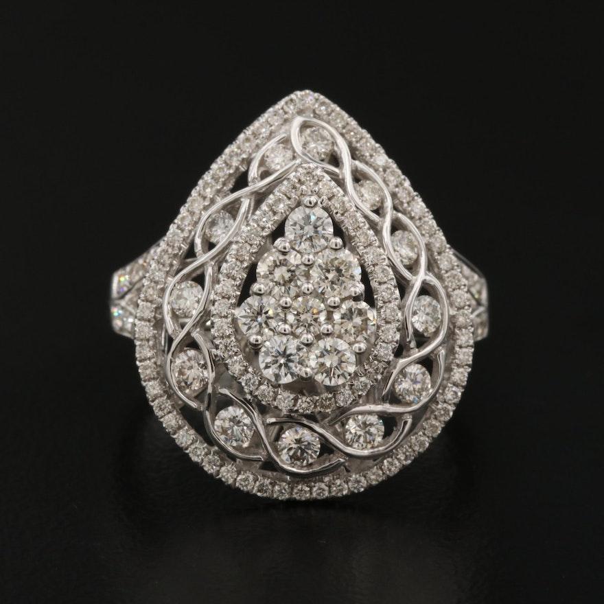 18K 1.28 CTW Diamond Openwork Ring