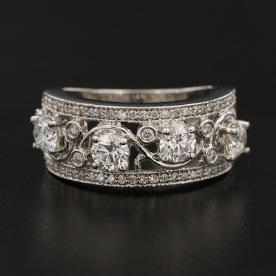 14K 1.51 CTW Diamond Openwork Ring