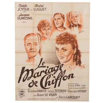"Lithograph Movie Poster for ""Le Mariage de Chiffon"", Circa 1940"