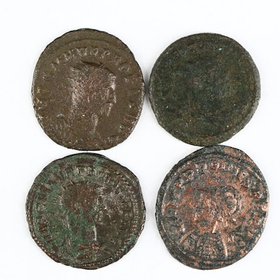 Four Ancient Roman Imperial AE Antoninianus Coins of Probus, ca. 280 A.D.